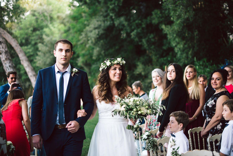 ingresso sposa a villa orlando