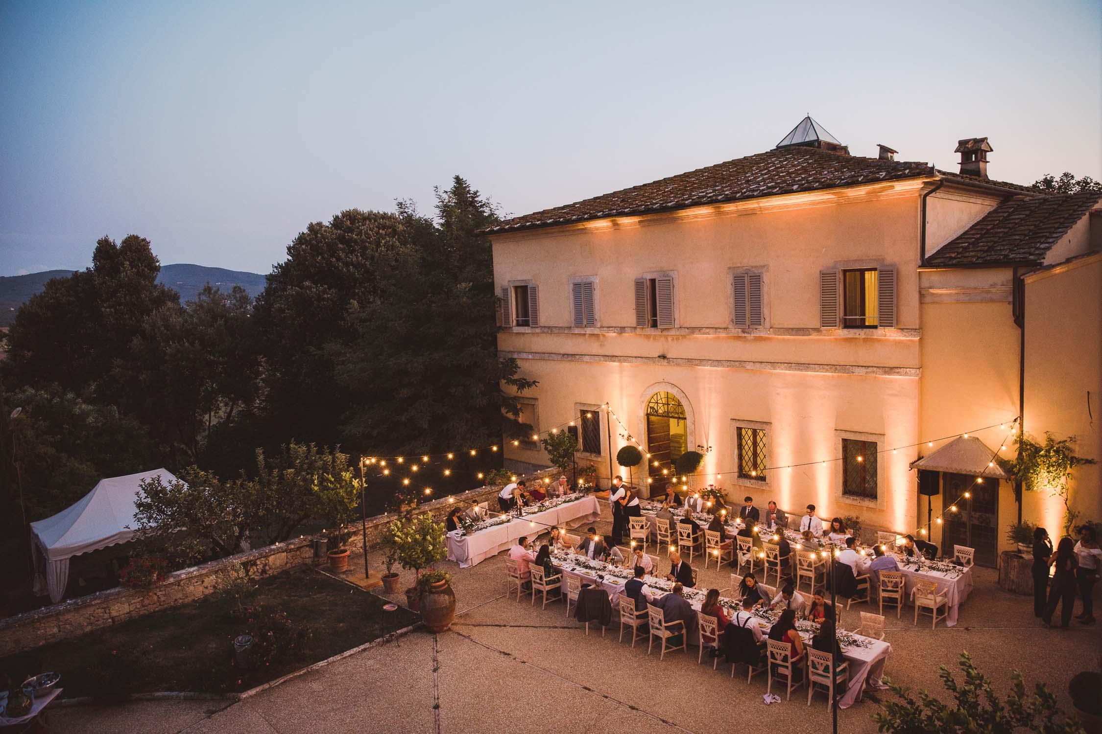 cena di matrimonio a villa sabolini